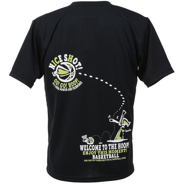 (セール)TEAMFIVE(チームファイブ)バスケットボール メンズ 半袖Tシャツ TEAMFIVE Tシャツ AT-59「ナイス・ショット!」 AT-5907MS ブラック