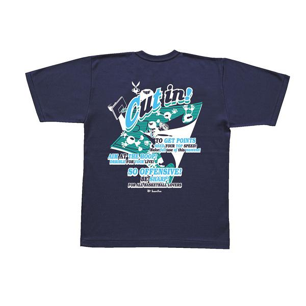 (セール)TEAMFIVE(チームファイブ)バスケットボール メンズ 半袖Tシャツ TEAMFIVE Tシャツ AT-58「カット・イン!」 AT-5801MS ネイビー