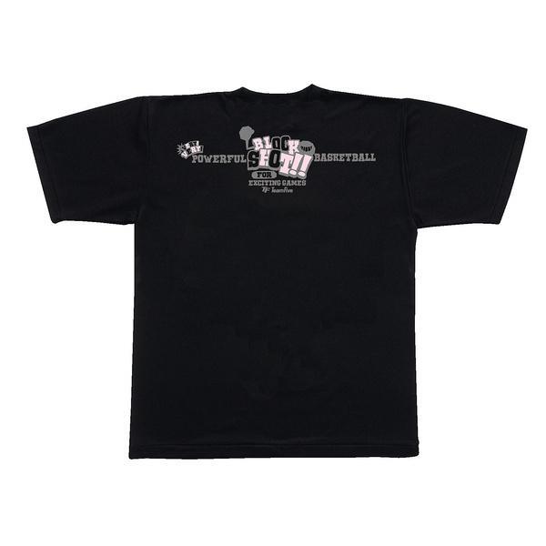 (セール)TEAMFIVE(チームファイブ)バスケットボール メンズ 半袖Tシャツ TEAMFIVE Tシャツ AT-62「ブロック・ショット」 AT-6207MS ブラック
