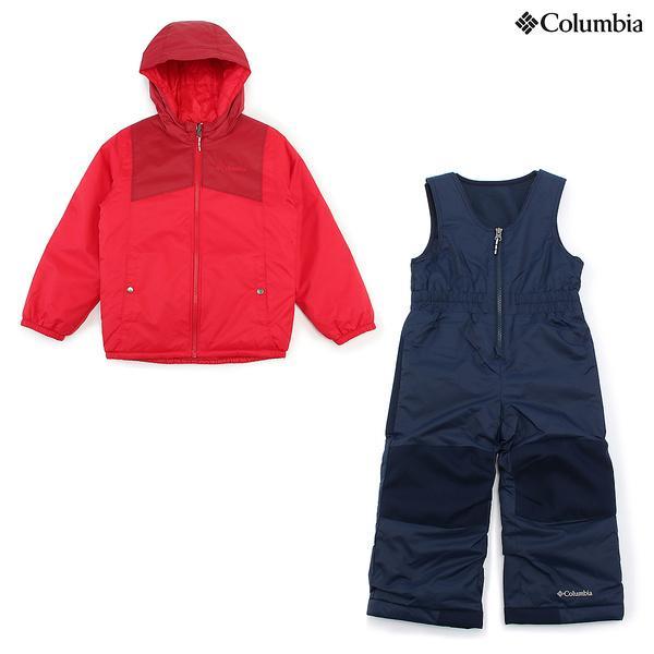 (セール)(送料無料)Columbia(コロンビア)ウインター ジュニアアパレル ダブルフレークセット SC1093-614 ジュニア 3T MOUNTAIN RED BEET
