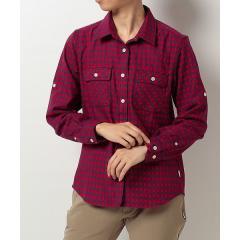 Alpine DESIGN(アルパインデザイン)トレッキング アウトドア 長袖シャツ サーモライト長袖チェックシャツ AD-F17-401-013 RED レディース レッド