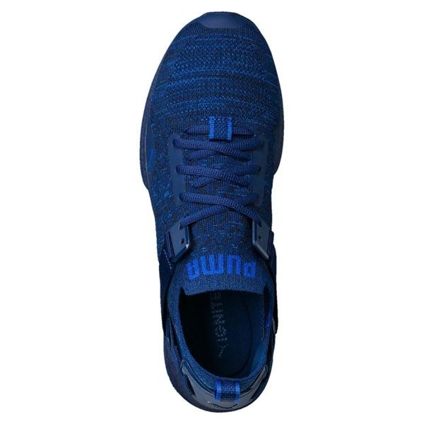 (セール)(送料無料)PUMA(プーマ)シューズ パフォーマンス プーマ イグナイト EVOKNIT ロウ ハイ 18999301 メンズ ブルー デプス/ブラック/ラピス ブルー