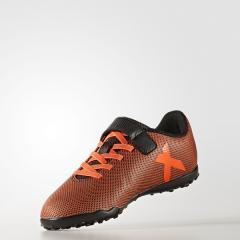 adidas(アディダス)サッカー ジュニアターフベルクロ エックス 17.4 TF J ベルクロ DWL87 BB6103 レディース コアブラック/ソーラーレッド/ソーラーオレンジ