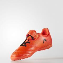 adidas(アディダス)サッカー ジュニアターフベルクロ エース 17.4 TF J ベルクロ CEF33 BY2299 ボーイズ ソーラーオレンジ/コアブラック/ソーラーレッド