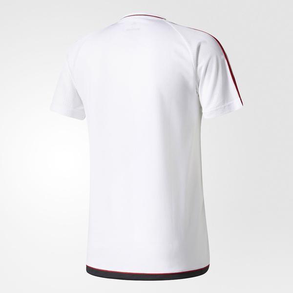 (セール)adidas(アディダス)サッカー 海外クラブ ナショナルチーム ACミラン トレーニング ジャージー BVH26 AZ7112 メンズ ホワイト/ビクトリーレッドS04/ブラック