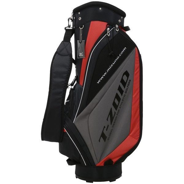 (送料無料)MIZUNO(ミズノ)ゴルフ メンズキャディーバッグ OP T-ZOID CB 5LJC1793000962 メンズ 0962 0962:ブラック*レッド