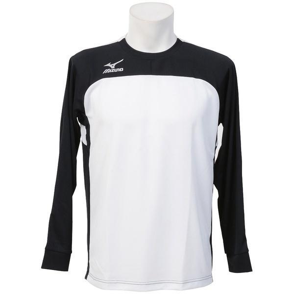 (セール)MIZUNO(ミズノ)サッカー 長袖プラクティスシャツ フィールドシャツLS P2MA750691 メンズ ブラック*ホワイト
