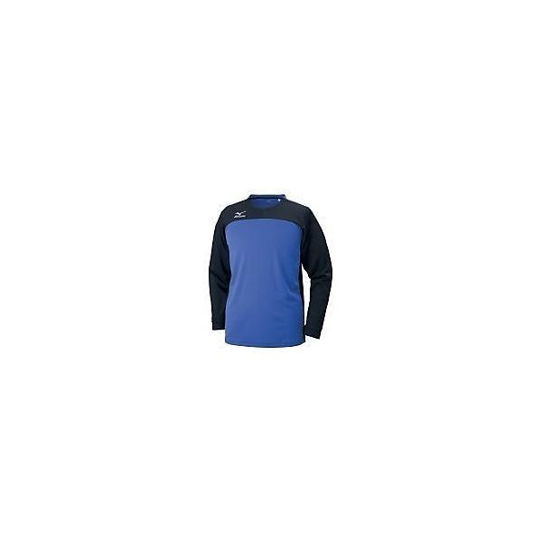 MIZUNO(ミズノ)サッカー 長袖プラクティスシャツ フィールドシャツLS P2MA750692 メンズ ブラック*ターキッシュブルー