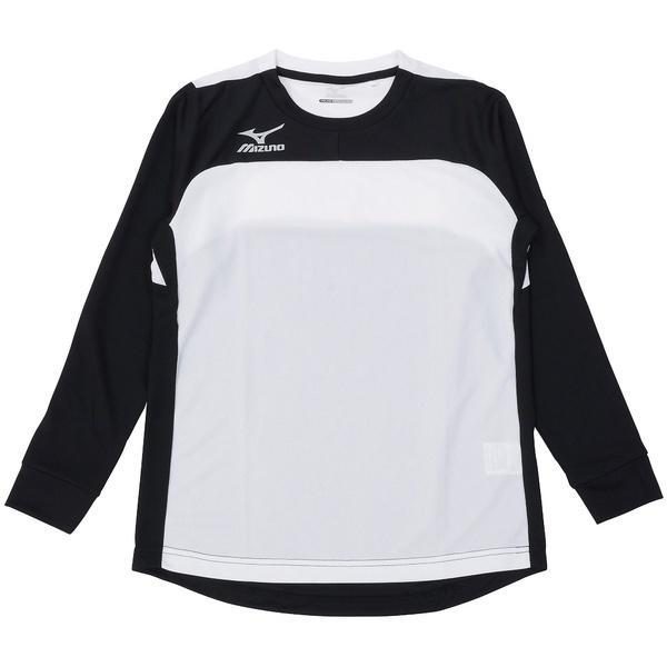MIZUNO(ミズノ)サッカー ジュニア長袖プラクティスシャツ フィールドシャツLSJR P2MA760691 ジュニア ブラック*ホワイト