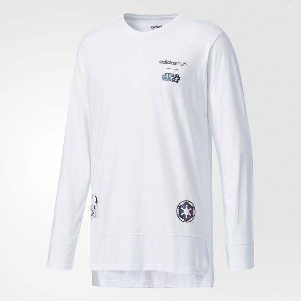(セール)adidas(アディダス)メンズスポーツウェア 長袖シャツ STR スターウォーズロングスリーブTシャツ M DJO45 BR8455 メンズ ホワイト/ホワイト