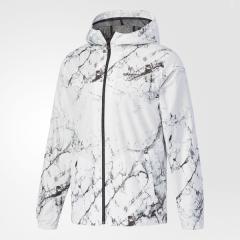(送料無料)adidas(アディダス)メンズスポーツウェア ジャケット HM マーブルプリントウィンドジップパーカーM DUP76 CF6073 メンズ ホワイト