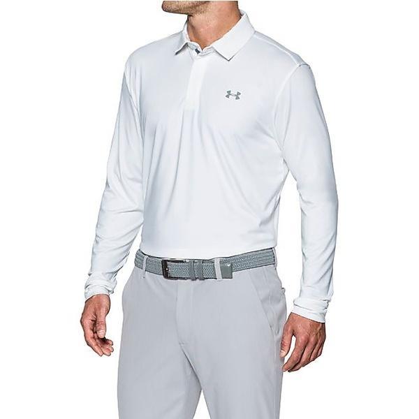 (送料無料)UNDER ARMOUR(アンダーアーマー)ゴルフ 長袖ポロ 長袖ハイネック UA LS POLO 1285067 メンズ WHITE/WHITE/STEEL