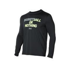 アーマー (セール)UNDER ARMOUR(アンダーアーマー)バスケットボール メンズ 長袖Tシャツ UA BBALL OR NOTHING LS TEE 1304504 メンズ BLACK/QUIRKY LIME/STEEL