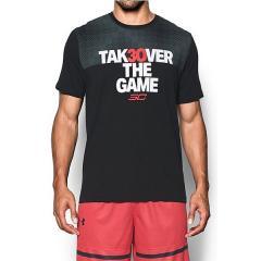 (送料無料)UNDER ARMOUR(アンダーアーマー)バスケットボール メンズ 半袖Tシャツ UA SC30 TAKEOVER TEE 1301764 メンズ BLK/WHT/RED
