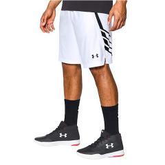 (セール)UNDER ARMOUR(アンダーアーマー)バスケットボール メンズ プラクティスショーツ UA TEAM 9IN SHORT 1302384 メンズ WHITE/WHITE/BLACK