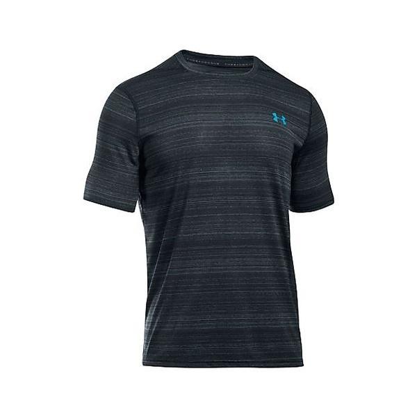 (セール)UNDER ARMOUR(アンダーアーマー)メンズスポーツウェア 半袖機能Tシャツ UA THREADBORNE BLACK TWIST SS 1301585 008 メンズ SLG/BSF