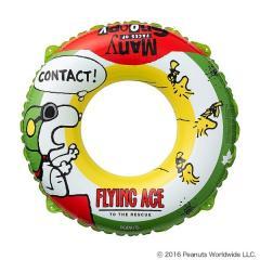 (セール)LOGOS(ロゴス)サマー レジャー 大人用浮き輪 SNOOPY SWIM RING 120 AG 86001077 グリーン