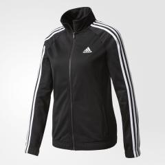 <LOHACO> adidas(アディダス)レディーススポーツウェア ウォームアップジャケット W D2M トラックトップ MLC27 BK4658 レディース ブラック/ホワイト画像
