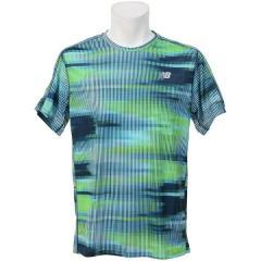 (セール)New Balance(ニューバランス)ランニング メンズ半袖Tシャツ アクセレレイトグラフィックショートスリーブTシャツ AMT73060BMS メンズ ボルトスクランブルストライプ