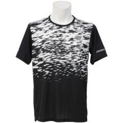 New Balance(ニューバランス)ランニング メンズ半袖Tシャツ NB HANZO クイックドライTシャツ JMTR7101BKW メンズ ブラック/ホワイト