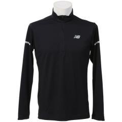 (セール)New Balance(ニューバランス)ランニング メンズ長袖Tシャツ アクセレレイトハーフジップロングスリーブ JMTR7604BK メンズ ブラック