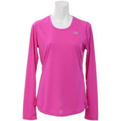 (セール)New Balance(ニューバランス)ランニング レディース長袖Tシャツ W アクセレレイトロングスリーブTシャツ WT73132PBR レディース ポイズンベリー