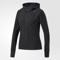 (送料無料)adidas(アディダス)ランニング レディースウインド RESPONSE シェルウインドジャケットW DMD52 BR0806 レディース ブラック