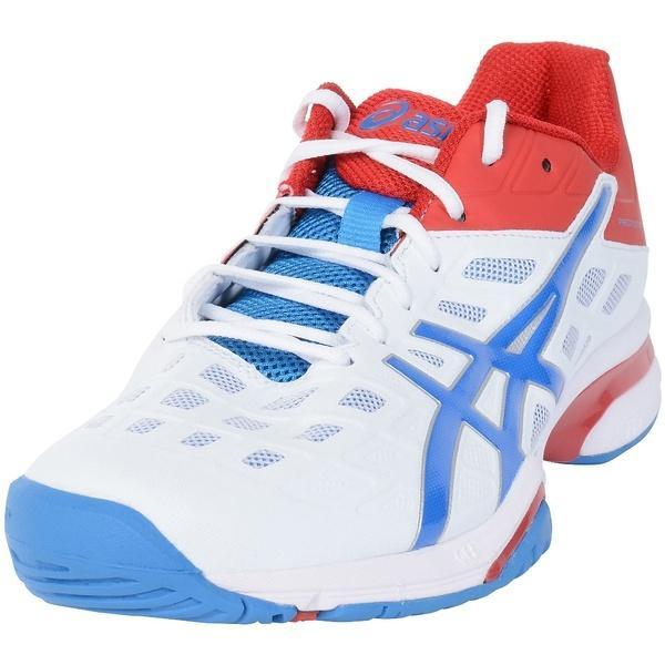 (送料無料)ASICS(アシックス)テニス バドミントン オールコート PRESTIGELYTE AC TLL778.0142 メンズ ホワイト/DIB