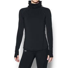 (セール)(送料無料)UNDER ARMOUR(アンダーアーマー)ランニング レディース長袖Tシャツ UA CG REACTOR RUN FUNNEL NECK 1298160 レディース BLK/BLK/RLT