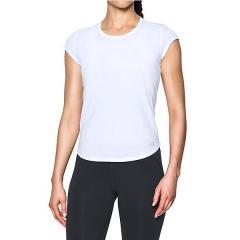 (セール)UNDER ARMOUR(アンダーアーマー)ランニング レディース半袖Tシャツ UA THREADBORNE RUN MESH SS 1300188 レディース WHITE/WHITE/REFLECTIVE