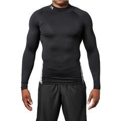 (送料無料)UNDER ARMOUR(アンダーアーマー)サッカー インナーシャツ UA COLDGEAR ARMOUR LS MOCK 1305944 メンズ BLK