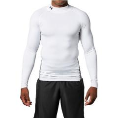(送料無料)UNDER ARMOUR(アンダーアーマー)サッカー インナーシャツ UA COLDGEAR ARMOUR LS MOCK 1305944 メンズ WHT