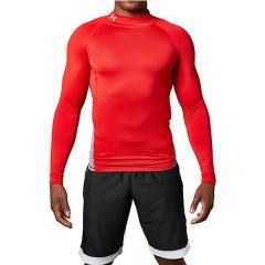 (送料無料)UNDER ARMOUR(アンダーアーマー)サッカー インナーシャツ UA COLDGEAR ARMOUR LS MOCK 1305944 メンズ RED