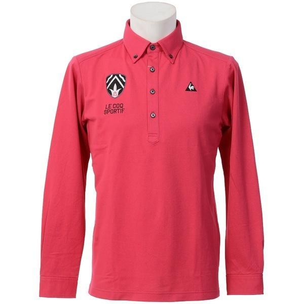 (セール)(送料無料)le coq(ルコック)ゴルフ 長袖ポロ 長袖ハイネック 長袖シャツ QG1068 メンズ W460