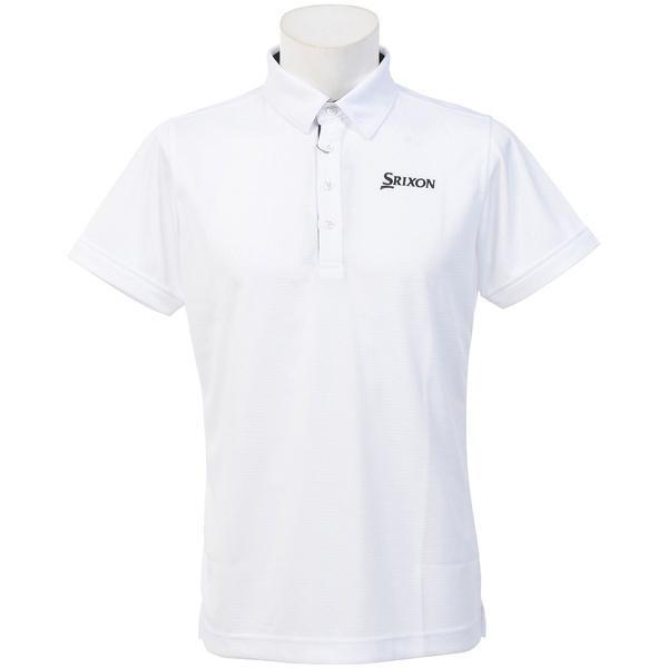 (セール)(送料無料)SRIXON(スリクソン)ゴルフ 長袖ポロ 長袖ハイネック 長袖シャツ SRM1187FCP メンズ WHT