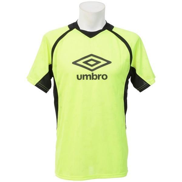 (セール)UMBRO(アンブロ)サッカー 半袖プラクティスシャツ エアースルーS/Sシャツ UBA7741 FYEL メンズ FYEL