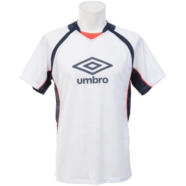 (セール)UMBRO(アンブロ)サッカー 半袖プラクティスシャツ エアースルーS/Sシャツ UBA7741 WHT メンズ WHT