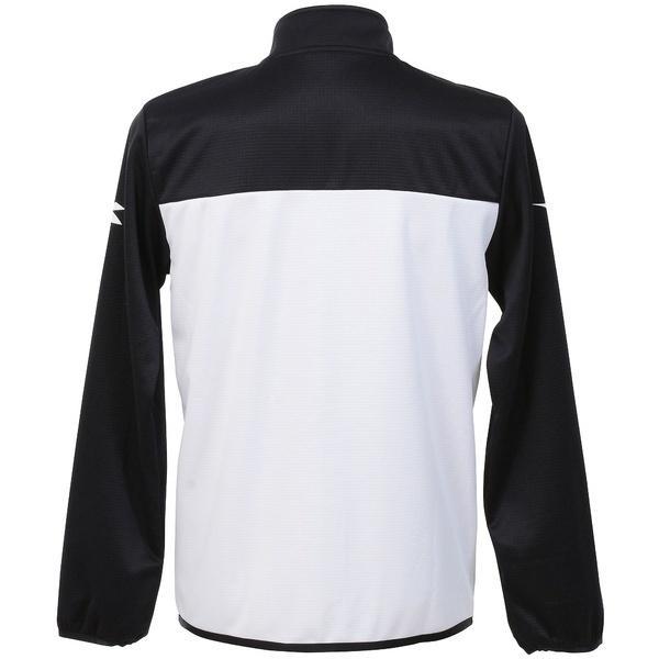 (セール)(送料無料)DIADRA(ディアドラ)テニス バドミントン インナー スウェット コート EVO ZIPジャケット DTT7182-9099 メンズ ホワイトxブラック