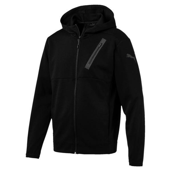 (送料無料)PUMA(プーマ)メンズスポーツウェア スウェットジップアップ ボンデッドテック ジャケット 51614601 メンズ ブラック