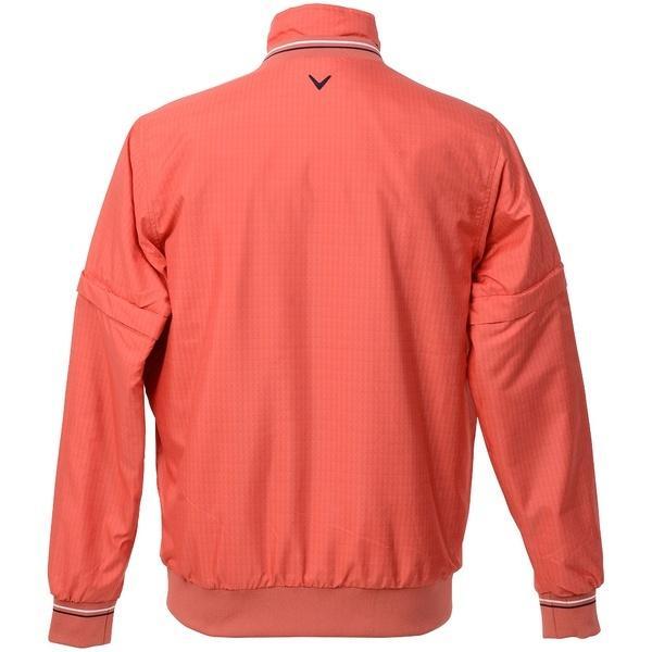 (セール)(送料無料)Callaway(キャロウェイ)ゴルフ ジャケット 17Mアロープリント4WAYハーフジップ中綿ブルゾン 241-7210510-101 メンズ レッド
