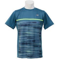 (セール)New Balance(ニューバランス)テニス バドミントン 半袖シャツ 長袖シャツ コンペティションゲームシャツ JMTT7615MRU メンズ モロッカンブルー