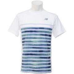 (セール)New Balance(ニューバランス)テニス バドミントン 半袖シャツ 長袖シャツ コンペティションゲームシャツ JMTT7615WT メンズ ホワイト