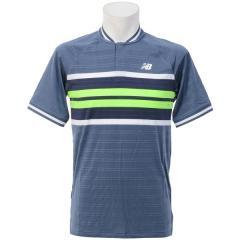 (セール)(送料無料)New Balance(ニューバランス)テニス バドミントン 半袖シャツ 長袖シャツ トーナメントヘンリーゲームシャツ MT73407VTI メンズ ヴィンテージインディゴ