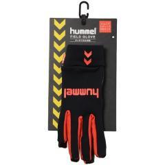 hummel(ヒュンメル)サッカー アパレルアクセサリー ジュニアフィールドグローブ HJA3039_9034 ジュニア ブラックxレッド