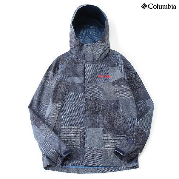 (セール)(送料無料)Columbia(コロンビア)トレッキング アウトドア 薄手ジャケット ワバシュパターンドジャケット PM5989-429 メンズ COLUMBIA NAVY PATCHWORK