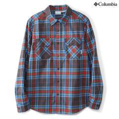 (セール)(送料無料)Columbia(コロンビア)トレッキング アウトドア 長袖シャツ セントジョセフスプリングスロングスリーブシャツ PM7894-028 メンズ GRILL