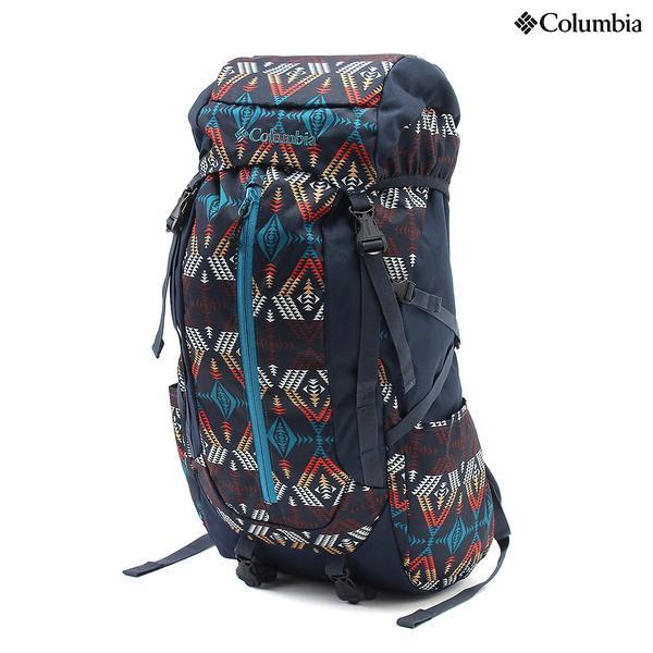 (セール)(送料無料)Columbia(コロンビア)トレッキング アウトドア カジュアルバックパックス スチュアートコーン30Lバックパック PU8045-464 O/S COLLEGIATE NAVY PATTERN
