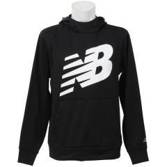 (セール)New Balance(ニューバランス)メンズスポーツウェア スウェットパーカー ゲームチェンジャーフードスウェット AMT73008BKWT メンズ ブラックホワイト