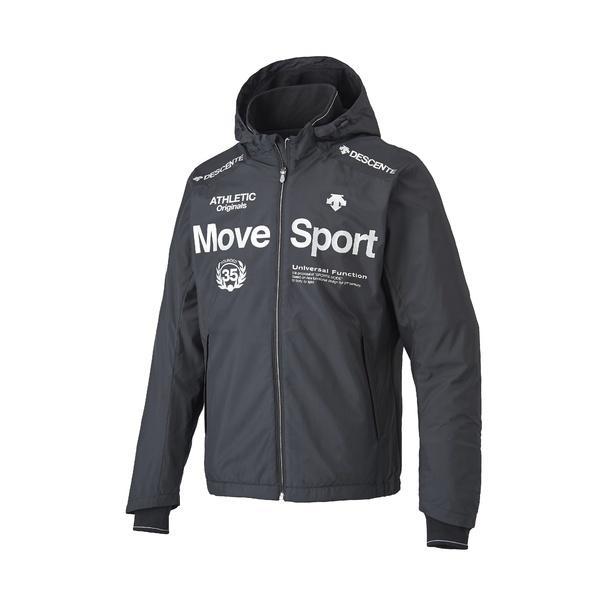 (送料無料)DESCENTE(デサント)メンズスポーツウェア ウインドアップジャケット EKS+THERMO フーデッドジャケット DAT-3755 BLK メンズ BLK