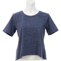 adidas(アディダス)ヨガ Tシャツ W ヨガ バックデザインTシャツ DSX54 BQ5252 レディース ノーブルインクスノーメランジ
